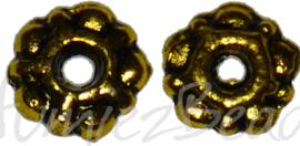 04196 Spacer daisy Antiek Goud (Nikkelvrij) 6mmx1,5mm; gat 2mm 15 stuks
