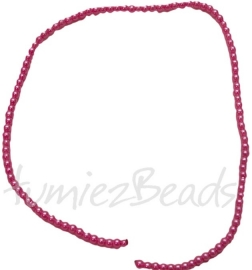 03421 Glasparel streng (±30cm) Hard roze 3mm 1 streng