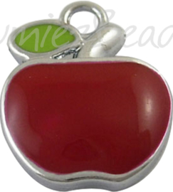 03500 Bedel appel Metaalkleurig/Rood/groen 20mmx17mmx4mm; gat 3mm