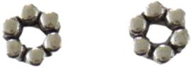 02446 Spacer Bolletjes Antiek zilver (Nikkelvrij) 9mmx3mm; gat 2,5mm 10 stuks