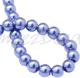 04034 Glasparel SlateBlue 3-4mm; gat 0,5mm 1 streng ±30cm