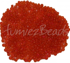 03314 Rocaille Transparant oranje 8/0 20 gram