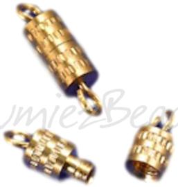 01216 schroefslot Goudkleurig (Nikkelvrij) 10mmx4mm 6 stuks