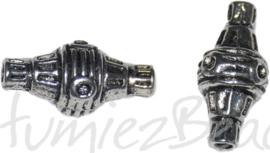 00550 Buiskraal tibetaans Antiek zilver 18,5mmx9mm; gat 2mm 5 stuks