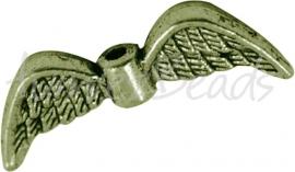 01908  Spacer vleugel  Antiek brons (Nickel vrij)  7mmx21mmx3mm; gat 1,5mm