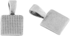 03312 Plakoog voor hangers Antiek zilver (Nikkelvrij) 17mmx10mmx4mm 2 stuks