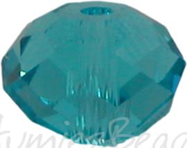 00757 Glasperle Imitation Swarovski 5040 briolette Dark Sapphire 6mmx8mm 7 stück