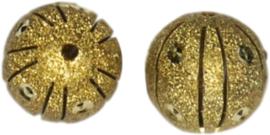 01834 Stardust kraal  Goudkleurig (Nikkelvrij) 20mmx20mm; gat 1,5mm 1 stuks