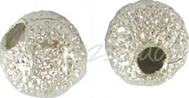 03717 Stardust kraal Zilverkleurig 4mm  ±20 stuks