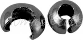 01766 Knijpkraal verberger Zwartkleurig (Nickel vrij) 3mm ±30 stuks