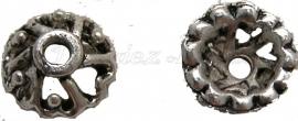 00800 Kralenkap hartjes Antiek zilver (Nikkelvrij) 3,5mmx9mm 15 stuks
