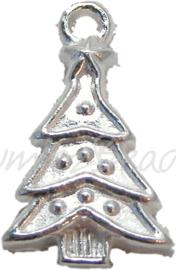 01677 Bedel Kerstboom Zilverkleurig (nikkelvrij) 22mmx14mm 4 stuks
