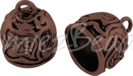 03185 Eindkap Antiek koper (Nikkelvrij) 18mmx15mm; gat 12mm 1 stuks