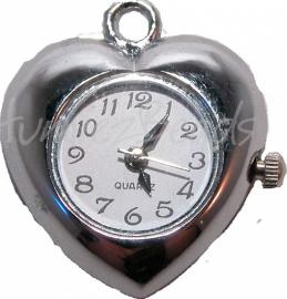 00466 Horloge hanger Metaalkleurig  1 stuks