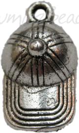 00458 Bedel pet Antiek zilver (Nikkel vrij) 19mmx10mm