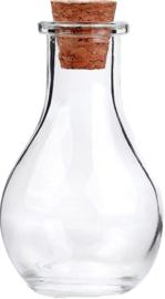 OP-0011 Glazen fles  Transparant 1 flesje