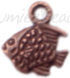 00324 Bedel dubbelzijdige vis Antiek koper 7 stuks