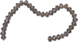 03431 Imitatie swarovski streng (±25cm) Topaz 10mmx7mm 1 streng