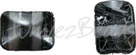00105 Acrylkraal rechthoek Zwart 6 stuks
