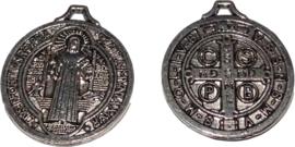 02872 Bedel religieus Antiek zilver (Nikkelvrij) 25x22x2mm; gat 1,5mm 1 stuks