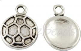 02989 Bedel voetbal Antiek zilver (Nikkel vrij) 15mmx11mm