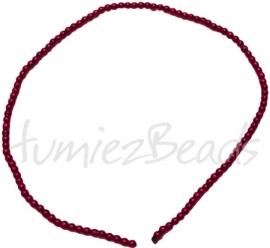 03423 Glasparel streng (±30cm) Rood 3mm 1 streng