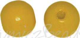 04295 Houten kraal gelakt Geel 4mm ±195 stuks