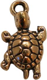 01786 Bedel schildpad Antiek goud 23mmx12mm 3 stuks