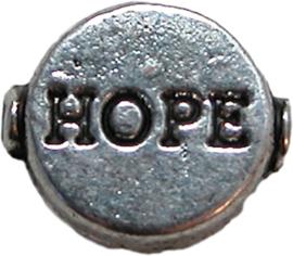01514 Spacer hope Antiek zilver (nikkelvrij) 10mmx9mm 7 stuks
