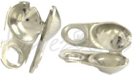 00381 Kalotje (Geschikt voor Ball chain) Metaalkleurig 6mmx3,5mm; binnenzijde 2,4mm 30 stuks