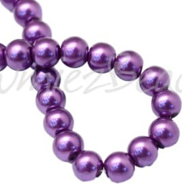 04017 Glasparel DarkOrchid 3-4mm; gat 0,5mm 1 streng ±30cm