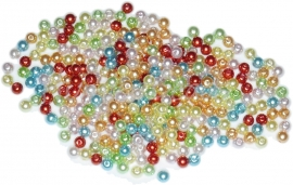02166 Parels acryl Mixed color 4mm 10 gram