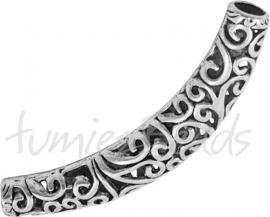 01983 Buiskraal Antiek zilver (Nickel vrij) 66mmx12mmx10mm; gat 5,5mm 1 stuks