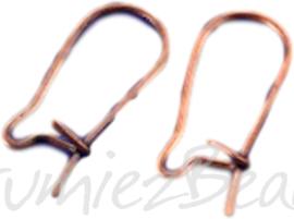 04065 Oorbelhaakjes gesloten Koperkleurig (Nikkelvrij) 18mm 6 paar