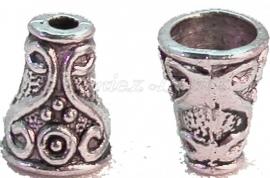 00277 Kralenkap picaso Antiek zilver (Nikkel vrij) 7 stuks