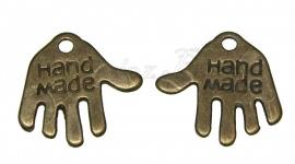 00427 Bedel hand made Antiek brons (Nikkelvrij) 11mmx12mm