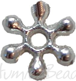 01004 Spacer daisy Zilverkleurig 7mm 14 stuks