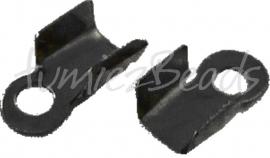 03709 Veterklem Zwart (Nickel vrij) 6mmx3mm ±20 stuks