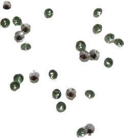 01461 Plaksteen Similisteen acryl Groen 2mm 25 stuks