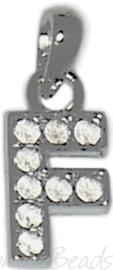04169 Bedel letter F Metaalkleurig (Nikkelvrij) 25mmx12mmx2mm 1 stuks