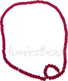 03450 Glasperle strang (±30cm) imitation jade Rot 4mm 1 strang