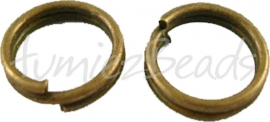 00848 Splitring Antiek brons (Nikkelvrij) ±50 stuks