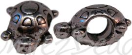 00435 Pandora kraal schildpad Antiek zilver