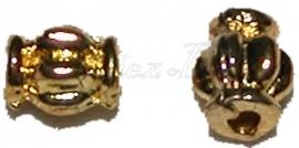 03063 Spacer meloen goudkleurig 6mmx4mm 15 stuks