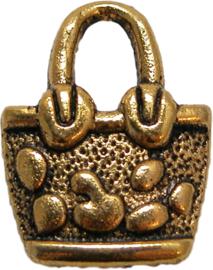 01734 Bedel handtas Antiek goud 20mmx15mm