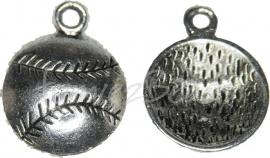02261 Bedel tennisbal Antiek zilver 18mmx14mm