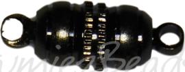 04114 Magneetslot Zwart (Nikkelvrij) 16mmx5mm  1 stuks