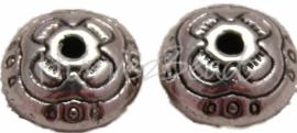 00755 Spacer arabisch Antiek zilver (Nikkel vrij) 5,5mmx9,5mm 9 stuks