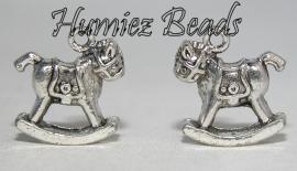02915 Bedel hobbelpaard Antiek zilver (Nikkelvrij) 17mmx16mmx9mm