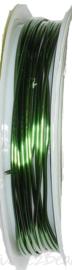 C-0077 Kupferdraht 2,5meter Grün 1,0mm 1 rol